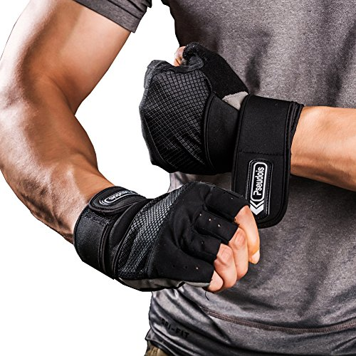 Pseudois Men's Weight Lifting Gloves for Gym Workout, Crossfit, Weightlifting, Powerlifting, and...