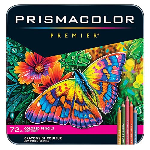 Prismacolor Premier Colored Pencils, Soft Core, 72 Pack