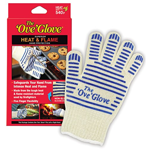 'Ove' Glove, Heat Resistant, Hot Surface Handler Oven Mitt/Grilling Glove, (Pack of 2) Perfect...