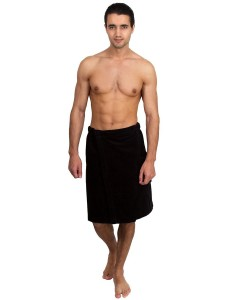 TowelSelections Men's Cotton Terry Velour Bath Towel Wrap Made in Turkey