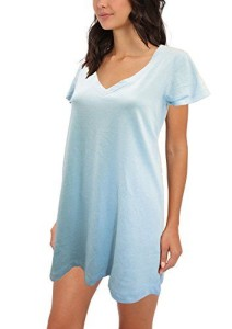 CYZ Women's 100% Cotton Sleepshirt Nightshirt Pajama Top