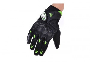 Seibertron M10 SMX-2 Air Carbon Fiber Riding Gloves Motorcycle Gloves Black/Green M