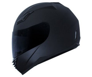 Duke Matte Black Full Face Motorcycle Helmet DK-140 +FREE Tinted Visor