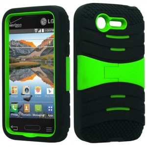 Black & Neon Green Symbiosis Stormer Impact Shockproof Armor Kickstand Case Cover