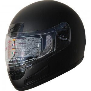 DOT Full Face Motorcycle Sports Bike Helmet 898 Matt Black (L)