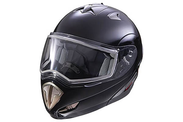 Polaris Black Full Face Modular Snowmobile Helmet with Electric Shield