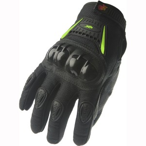 Motorcycle Powersports Street Bike Racing Gloves A9 Green/black (XL)