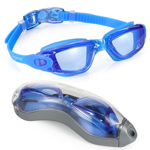 Swim Goggles, Aegend Clear Swimming Goggles No Leaking Anti Fog UV Protection Triathlon Swim Goggles with Free Protection Case