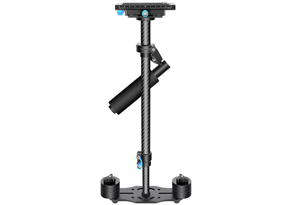 Neewer Carbon Fiber 24 inches/60 centimeters Handheld Stabilizer with 1/4 3/8 inch Screw Quick Shoe Plate for Canon Nikon Sony and Other DSLR Camera Video DV