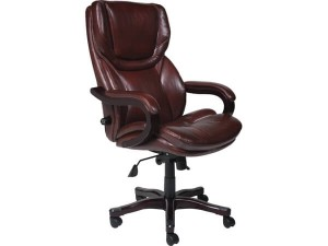Serya 43506 Bonded Leather Big &Tall Executive Chair, Brown