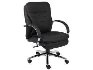 Boss Office Products CaressoftplusMid Back Executive Chair