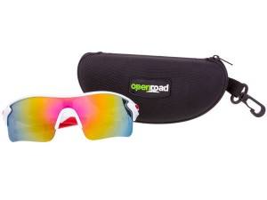QUALITY WRAP AROUND CYCLING GLASSES/SPORTS SUNGLASSES, lightweight & shatterproof with UV protection (various colors) & protective case.
