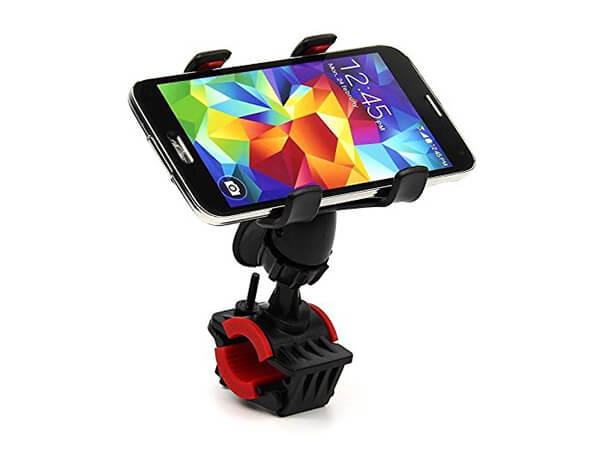 Rymemo 2016 Newest Universal 360 Degrees Rotating Motorcycle Bicycle Bike Cellphone GPS MTB Support Handlebar Mount Holder (Red)