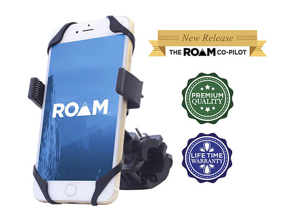 Roam Co-Pilot Universal Bike Phone Mount Holder for Motorcycle/Bike Handlebars