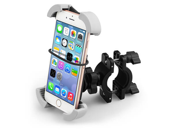 Bike Mount, Universal Bike Phone Holder Handlebar & Motorcycle Bike Mount Holder, 360 Degree Rotation, Fits All Kinds of Phones