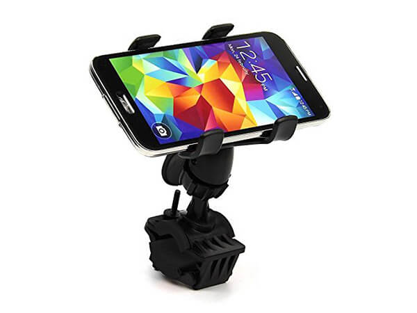 Rymemo 2016 Newest Universal 360 Degrees Rotating Motorcycle Bicycle Bike Cellphone GPS MTB Support Handlebar Mount Holder (Black)