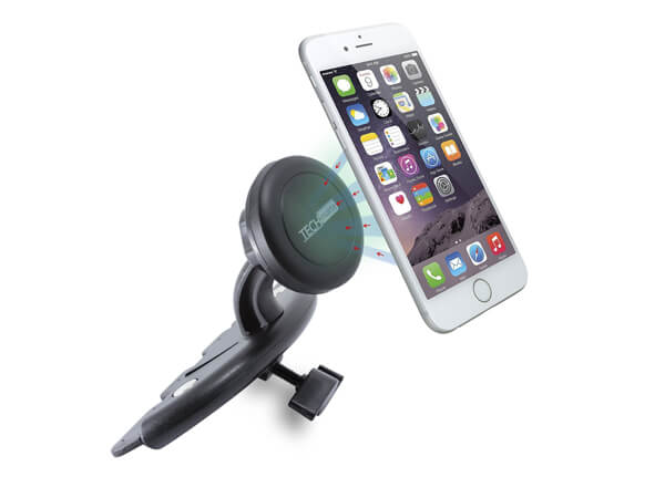 Car mount techMatte MagGrip CD slot magnetic universal car mount holder