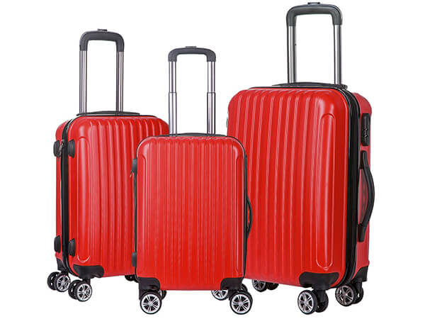 【BIG SALE】 Merax ABS Luggage 3 Piece Spinner Set with Multi-directional Wheel
