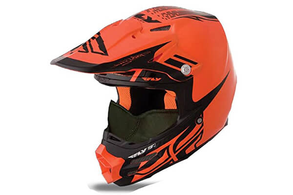 HMK Fly Racing F2 Carbon Dubstep Helmet , Distinct Name: Orange/Black, Gender: Mens/Unisex