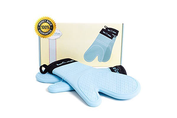 Oven Mitt Set of 2 - Blue