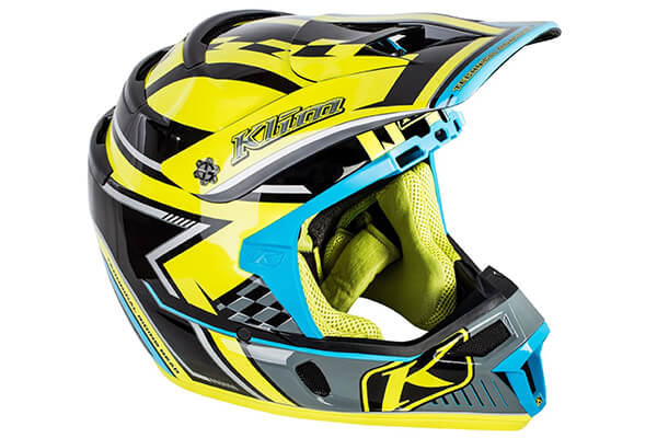 Klim ECE Men's F4 Snocross Snowmobile Helmet - Legacy Voltage