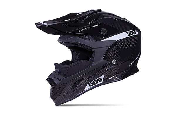 509 Carbon Fiber Altitude Snow Snowmobile Helmet - Gloss Black - 509-HEL-ACG