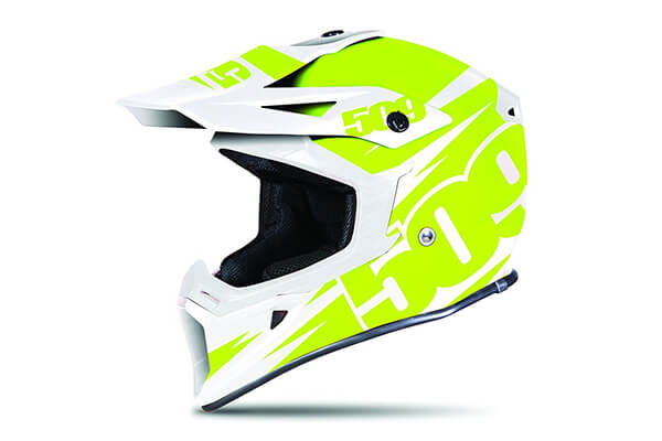 509 Tactical Snow Snowmobile Helmet - Lime - Green & White - 509-HEL-TLI