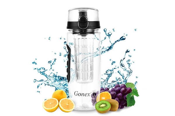 Gonex Fruit Infuser Water Bottle, 32oz