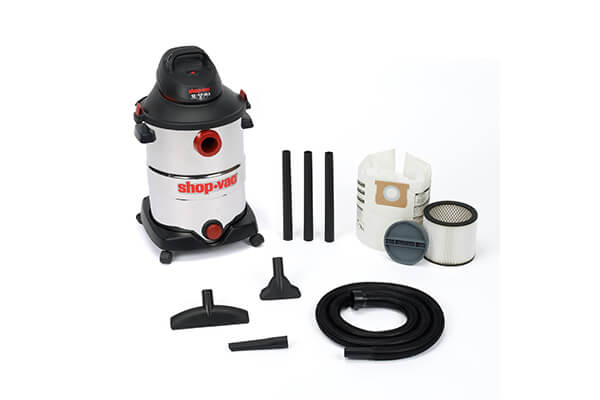Shop-Vac 5986200 12-Gallon 6.0 Peak HP Stainless Steel Wet Dry Vacuum