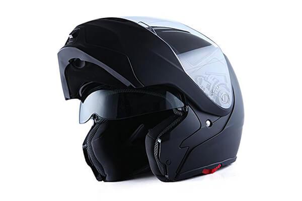 Storm Motorcycle Street Bike Modular/Flip up Dual Visor/Sun Shield Full Face Helmet