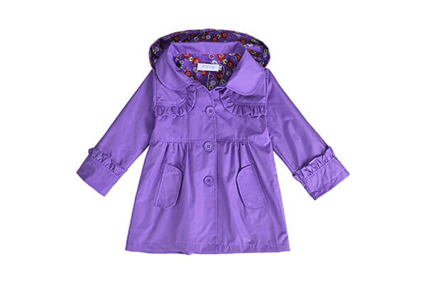 Arshiner Girl Kid Flower Waterproof Hooded Coat