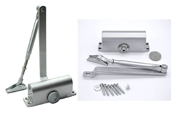 HOMEE Door Closer Satin Stainless Steel Aluminum Alloy Door Accessory