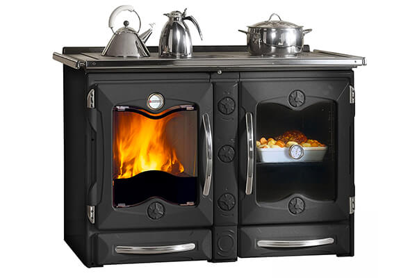 "Wood Burning Cook Stove La Nordica ""America Black"" Cooking Stove Range"