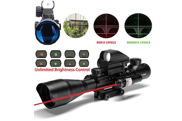 Ar15 scope 4-12x50EG dual illuminated rifle scope optics