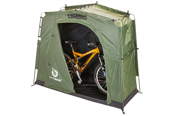 The YardStash III: Space Saving Outdoor Bike Storage