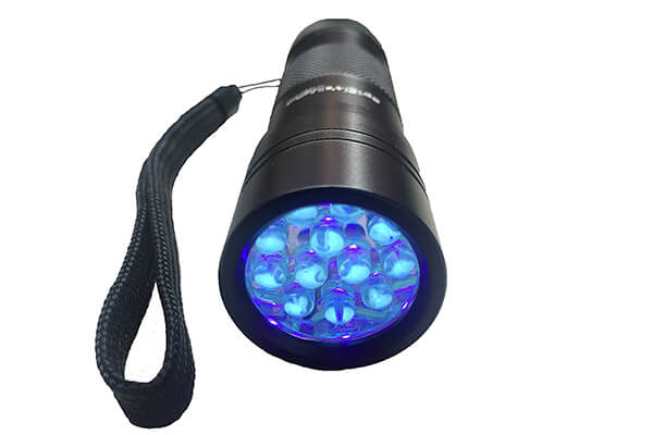Spot's Light UV Blacklight Flashlight, Black 12 LED, Ultraviolet Pet Urine Stain Detector