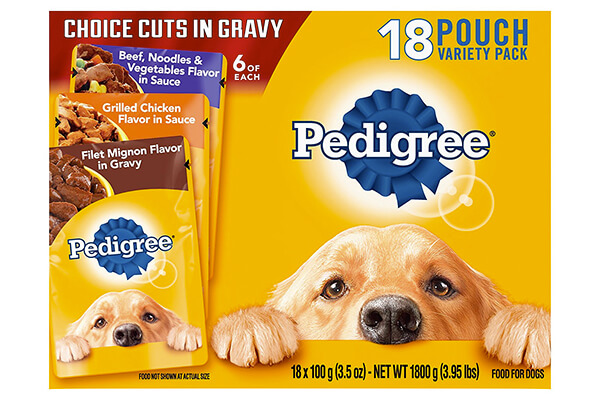 PEDIGREE Choice Cuts Variety Pack Beef and Grilled Chicken Wet Dog Food 3.5 oz