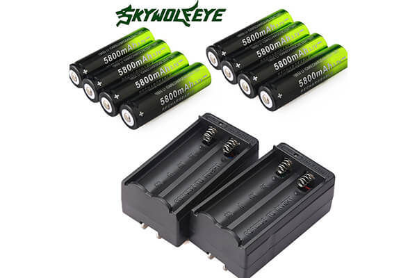 8PCS 3.7V 5800 mAh Li-ion Rechargeable 18650 Battery for Handheld Flashlights(NOT AA or AAA)