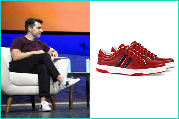 Brian Chesky: Gucci Ace Leather Low-Top Sneaker