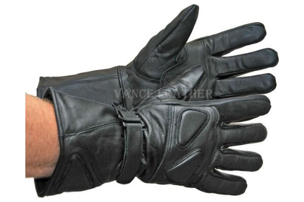 Vance Leather Gauntlet Snowmobile Gloves
