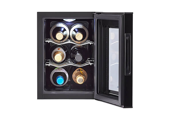aier 6-Bottle Wine Cellar with Electronic Controls