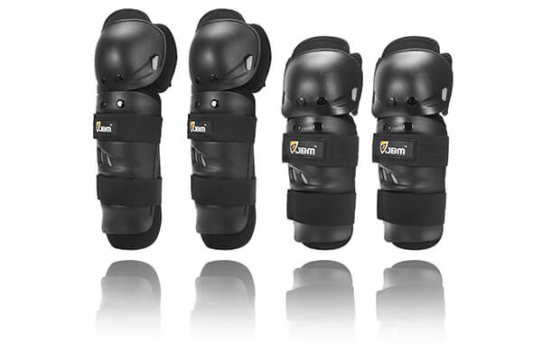 JBM Powersports Knee and Elbow Shin Guards Gear