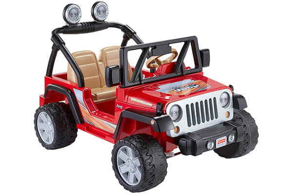 Fisher-Price Power Wheels Jeep Wrangler - Lava Red & Black