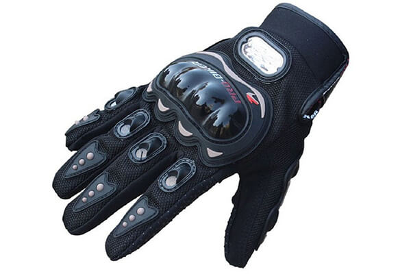 Towall Black Short Sports Leather Motorcycle Motorbike Summer Gloves
