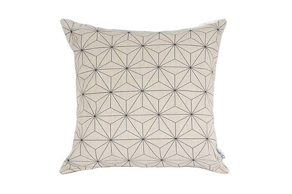 Decorative Scandinavian Modern Geometric Design Watercolor Throw Pillow  Cover In White U0026 Black 18×18 Inch Soft Cotton Linen Blend