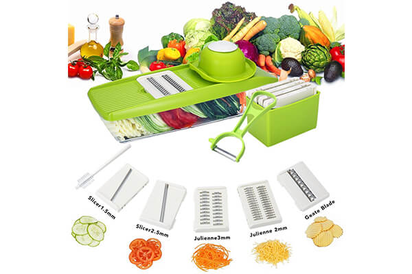 Mandoline Slicer, TAPCET Vegetable Grater & Julienne Slicer Cutter