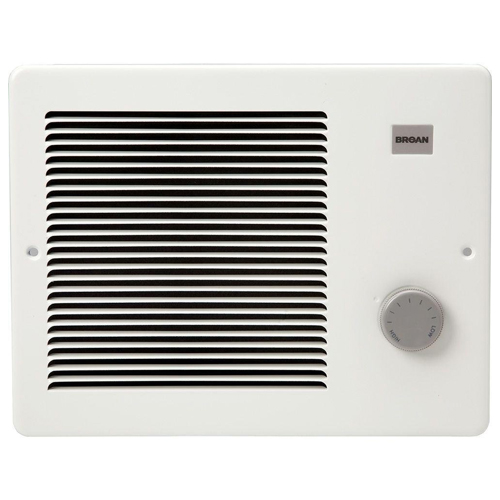 Broan 174 750/1500W 120 VAC Painted Grill Wall Heater, White