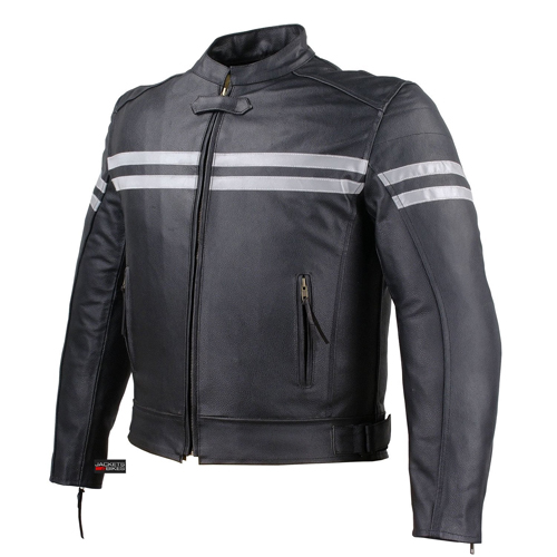 Track Motorcycle Biker Armor Leather Jacket