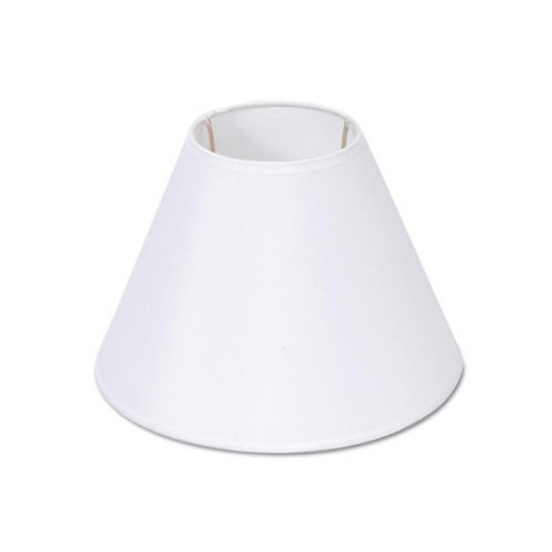 Lamp Shade, Darice 5200-29, White Fabric-covered, Fits Standard Light Bulb
