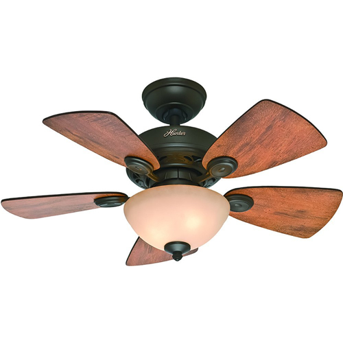 Top 10 best small ceiling fans in 2018 reviews our great products hunter bronze ceiling fan with five blades mozeypictures Images